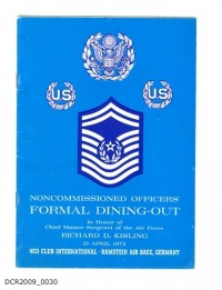 Programm, Noncommissioned Officers Formal Dining-Out, NCO Club ...