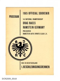 Programmheft, 1965 OFFICIAL SOUVENIR PROGRAM, 1st NATIONAL ...