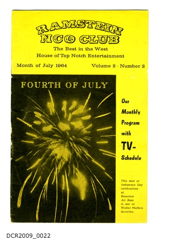 Programmheft, Ramstein NCO Club, The Best in the West, House of Top Notch Entertainment, Month of July 1964, Vol. 2, Nr. 2 (dc-r docu center ramstein CC BY-NC-SA)