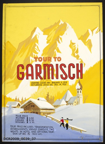 Plakat, Veranstaltungsplakat, Tour To Garmisch (dc-r docu center ramstein CC BY-NC-SA)