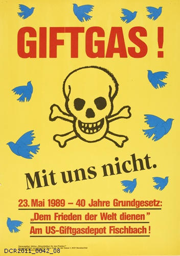 Plakat, Giftgas! Mit uns nicht. (dc-r docu center ramstein CC BY-NC-SA)