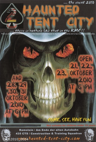 Plakat, Haunted Tent City (dc-r docu center ramstein CC BY-NC-SA)