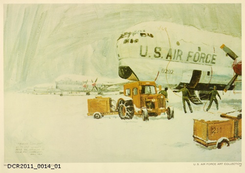 Plakat, U.S. Air Force Art Collection, Morning Cleanoff (dc-r docu center ramstein CC BY-NC-SA)