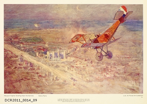 Plakat, U.S. Air Force Art Collection, Nieuport Fighter Strafing Near the Somme (dc-r docu center ramstein CC BY-NC-SA)