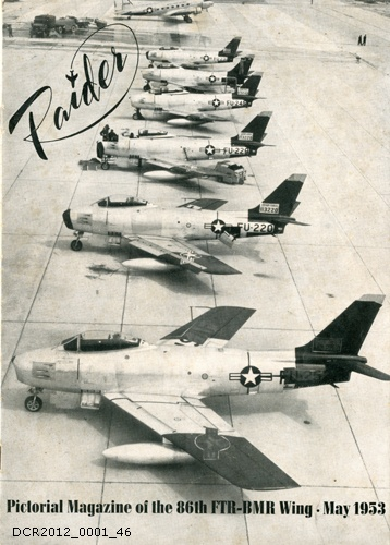 Magazin, Raider, Pictorial Magazine of the 86th FTR BMR Wing, Vol. 1, Nr. 2, May 1953 (dc-r docu center ramstein CC BY-NC-SA)
