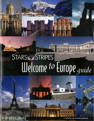 Informationsschrift, Stars and Stripes Welcome to Europe Guide (dc-r docu center ramstein CC BY-NC-SA)