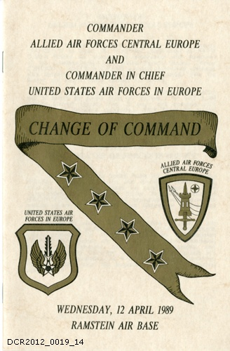 Programmheft , Change of Command, Commander Allied Air Forces Central Europe and Commander in Chief United States Air Forces in Europe (dc-r docu center ramstein CC BY-NC-SA)