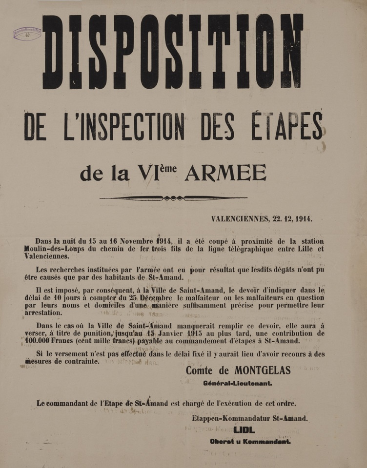 Disposition de l'inspection des Étapes (Historisches Museum der Pfalz, Speyer CC BY-NC-SA)