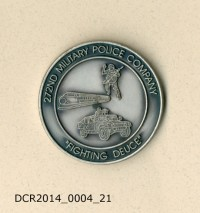 Gedenkmünze, Challenging Coin, 272nd Military Police Company, ...
