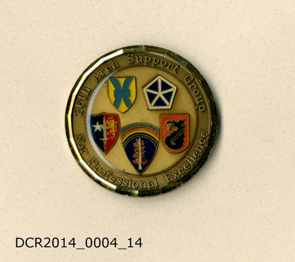 Gedenkmünze, Group Commander's Coin, 26th Area Support Group (dc-r docu center ramstein CC BY-NC-SA)