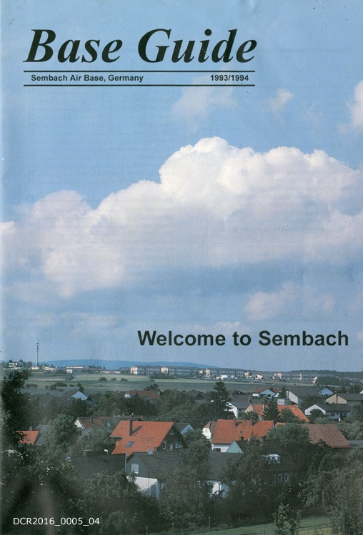 Begrüßungsschrift, Base Guide Sembach Air Base (
