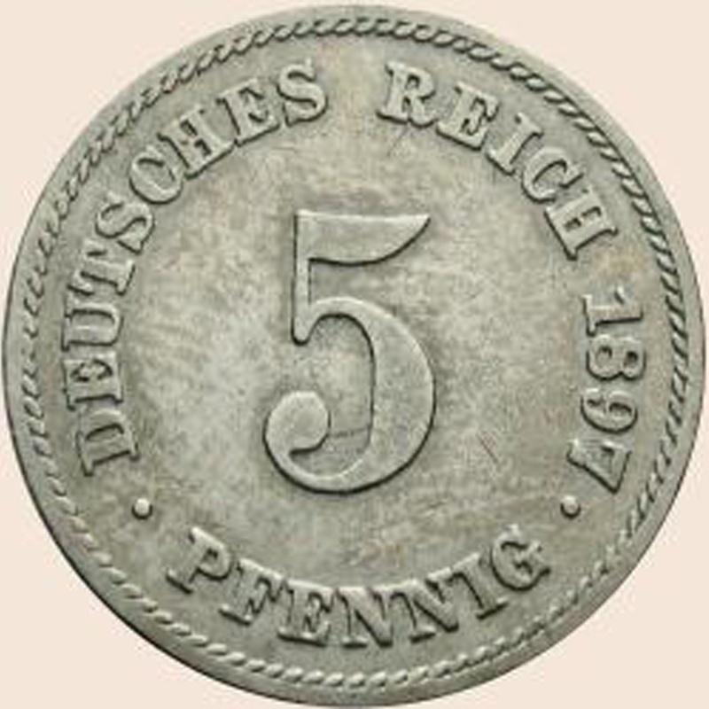 5 Pfennig Münze Deutsches Reich Heimatmuseum Und Archiv Bad