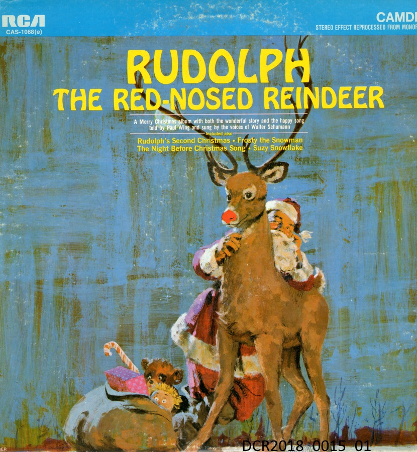 "Langspielplatte, LP, Rudolph the Red-nosed Reindeer (""dc-r"" docu center ramstein CC BY-NC-SA)"