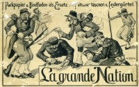 "Postkarte ""La grande nation"""